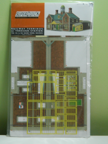 Superquick A10 OO Terminus or Through Station Card Kit