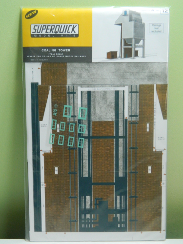 Superquick A12 OO Coaling Tower Card Kit