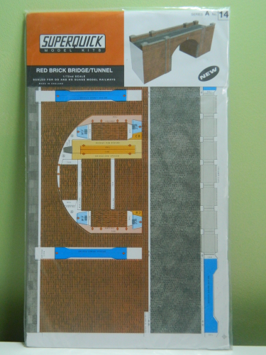 Superquick A14 OO Red Brick Bridge / Tunnel Card Kit