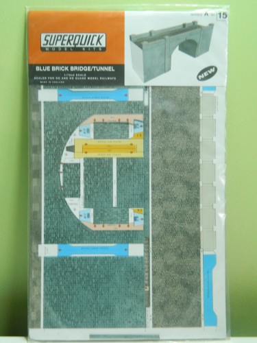 Superquick A15 OO Blue Brick Bridge / Tunnel Card Kit
