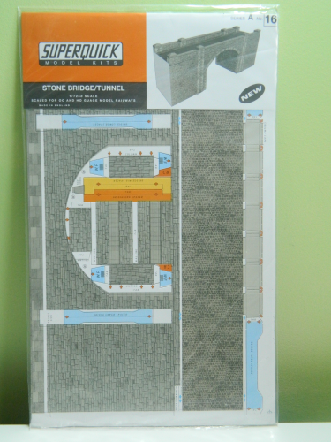 Superquick A16 OO Stone Bridge / Tunnel Card Kit