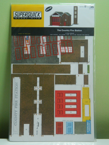 Superquick B36 OO / 1:76 Country Fire Station Card Kit