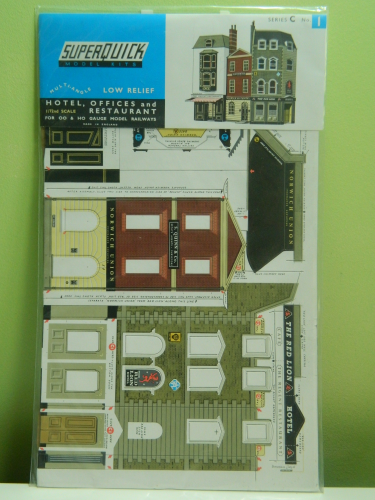 Superquick C1 OO Low Relief Hotel, Offices & Restaurant Card Kit