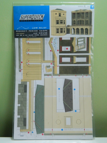 Superquick C4 OO Low Relief Regency Period Shops & House Card Kit