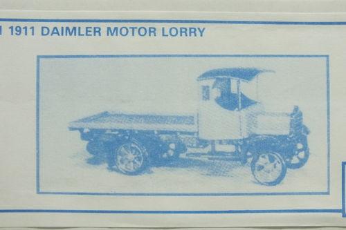 PW51 1:76/OO 1911 Daimler Motor Lorry - Flatbed White Metal Kit
