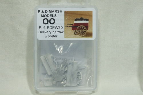 PW80 1:76/OO Delivery Barrow and Porter White Metal Kit