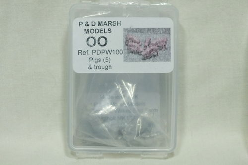 PW100 1:76/OO Pigs (x5) and Trough White Metal Kit