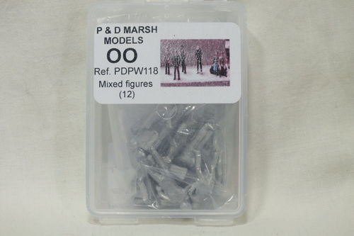 PW118 1:76/OO Mixed Figures (x12) White Metal Kit