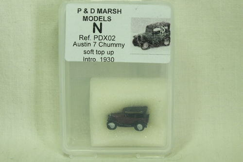 X02 N Gauge Austin 7 Chummy - Soft Top Up (Intro. 1930) Painted