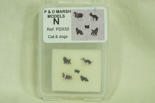 X55 N Gauge Cat & Dogs Painted
