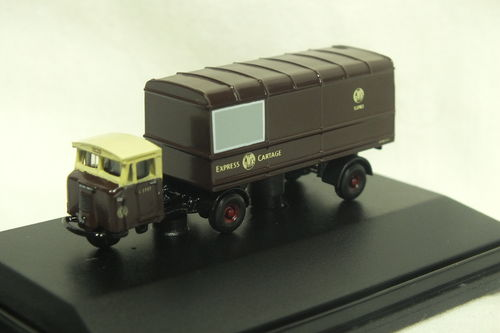 NMH011 N Gauge Scammell Mechanical Horse with Van Trailer - GWR