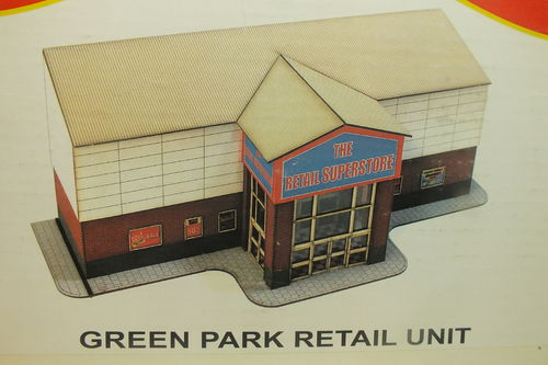 OO-IE-103 1:76/OO Green Park Retail Unit - Half Relief Laser Cut Building Kit