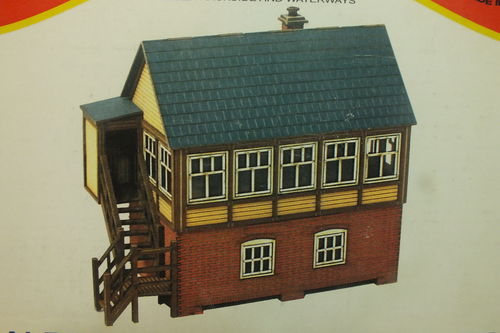 OO-TS-101 1:76/OO Malbrook Junction Signal Box - Laser Cut Building Kit