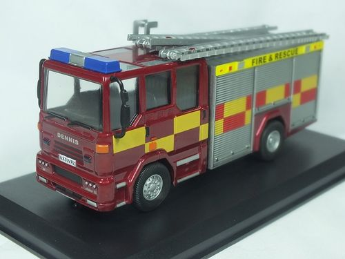 FBM150DS-B 1:50 Scale Dennis Sabre Fire Engine/Appliance Water Tender Ladder - Battenberg