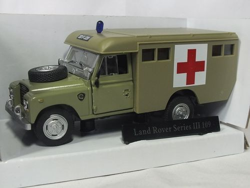 CR036 1:43 Land Rover Series III 109 Ambulance - Army Desert Sand