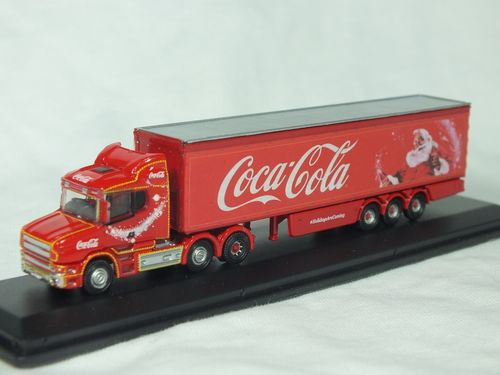 NTCAB007CC N Gauge Scania T-Cab with Box Trailer - Coca-Cola Christmas