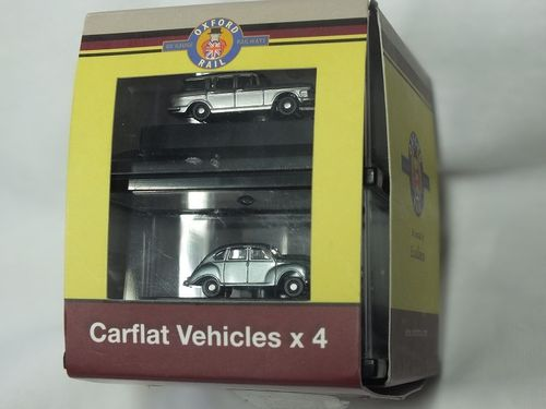 OR148CPK002 N Gauge Carflat Pack - 1970s Cars x 4 Assorted