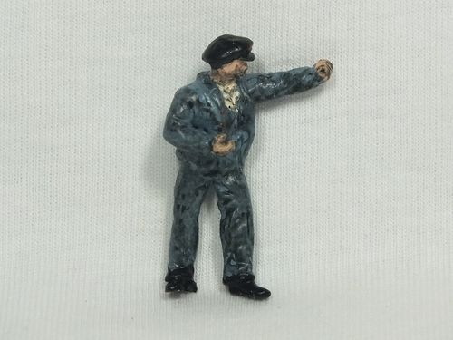 FF104P O Gauge Driver Left Arm Raised High - Unpainted